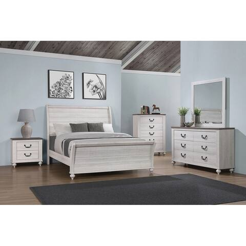 The Gray Barn Tranquil Side Ash Brown and Vintage Linen Panel Bedroom Set