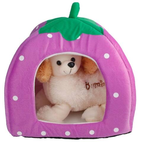 S/M/L Strawberry Style Multi-purpose Pets House Nest Yurt