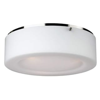 "Forecast Lighting F614136U 2 Light 13.5"" Wide Flush Mount Ceiling Fixture from the Passage Collection - Satin Nickel"