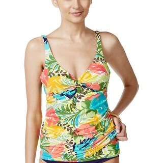 Anne Cole Womens Printed Underwire Swim Top Separates