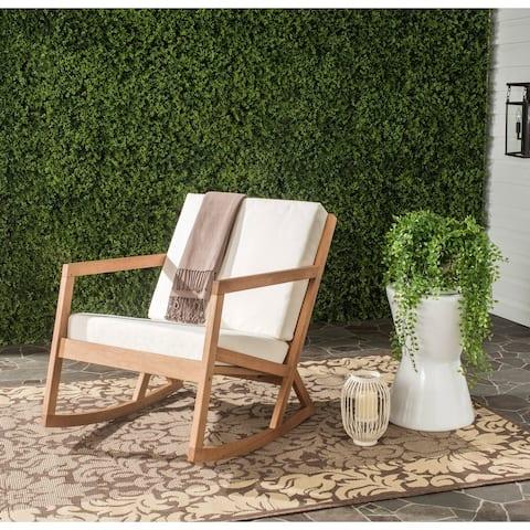 Safavieh Outdoor Living Vernon Natural/Beige Rocking Chair