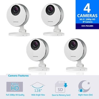 4 pack of SNH-P6410BN Samsung Smartcam Full HD Wifi 1080p IP Camera