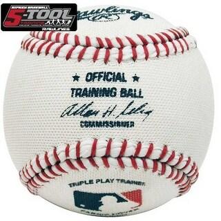 Rawlings Fabric Cover Training Baseball 1 Dozen FABRICBALL - White