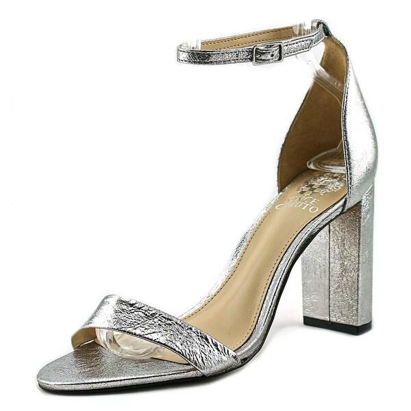 Vince Camuto Mairana Women Open Toe Leather Silver Sandals