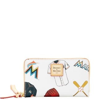 Dooney & Bourke MLB Marlins Zip Around Phone Wristlet (Introduced by Dooney & Bourke at $118 in Mar 2016) - White