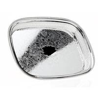 Palais Dinnerware Beautiful, Silver Plated, Square Serving Tray With Traditional Floral Motif