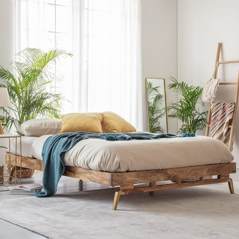 Nelson Mango Wood Queen Platform Bed