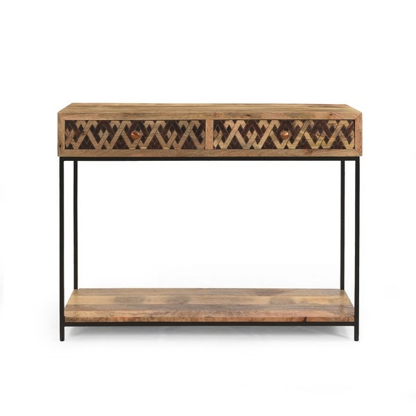 "Pentland Boho Console Table by Christopher Knight Home - 42.00"" W x 15.00"" D x 32.00"" H. Opens flyout."
