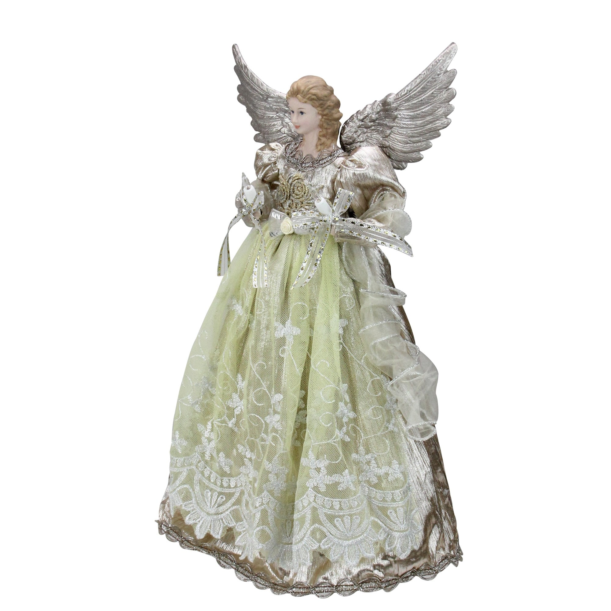 16 Lighted Rose Gold Angel Christmas Tree Topper Clear Lights Overstock 16539998