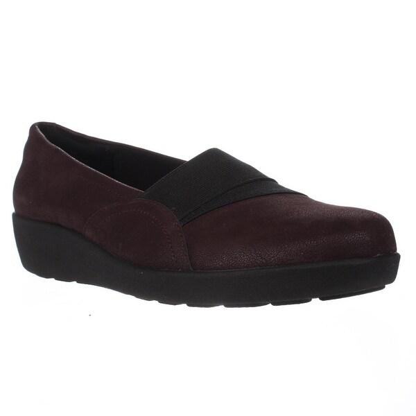 Easy Spirit Kaleo Slip On Comfort Flats, Wine/Black - 9.5 us