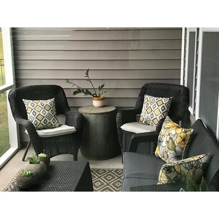 Keter Corfu Charcoal All-Weather Outdoor Garden Patio Coffee Table