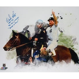 "Wade Boggs signed New York Yankees 1996 World Series 16x20 Photo w/ triple HOF 05, 96 WS Champs & ""What a Ride"""