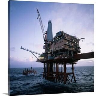 Premium Thick-Wrap Canvas entitled Offshore oil rig