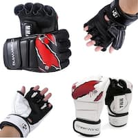 Boxing Gloves MMA UFC Sparring Grappling Fight Punch Mitts PU Leather Training