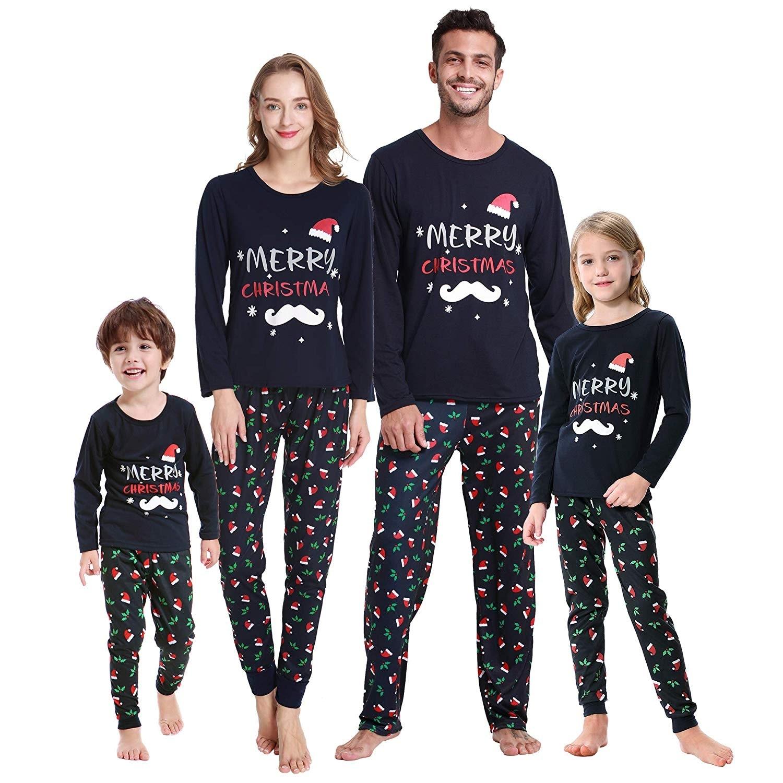 Santa Claus Sleepwear PJs for Kids Matching Family Christmas Pajamas Set Christmas Pajamas for Family