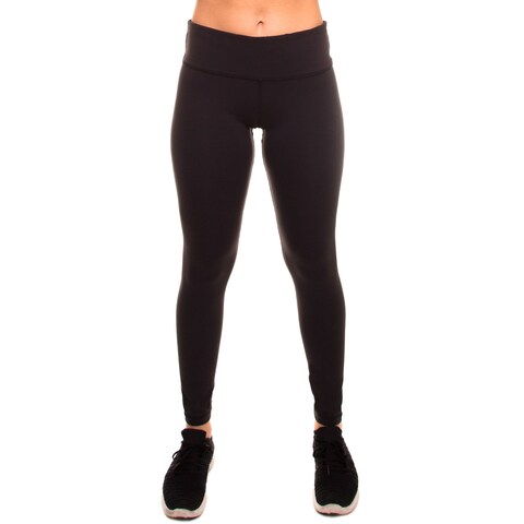 Women's Stretch Yoga Running Workout Pants Mid-Waist Leggings w Hidden Pocket