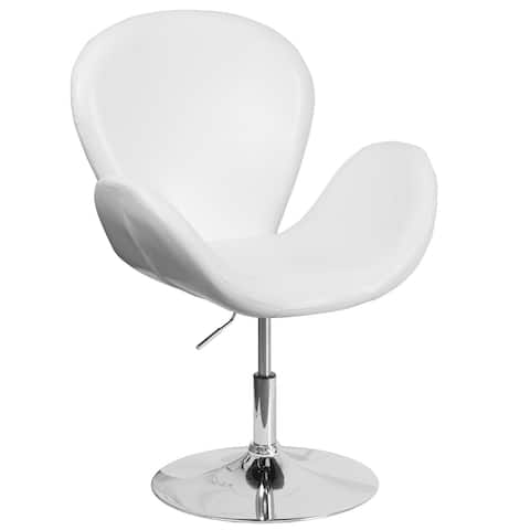 LeatherSoft Side Reception Chair with Adjustable Height Seat