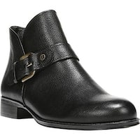 Naturalizer Women's Jarrett Ankle Boot Black Classic Vintage Leather