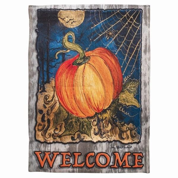 """18"""" x 13"""" Pumpkin """"Welcome"""" Garden Flag - N/A"""