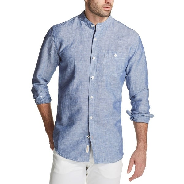 9966a937cf Shop Weatherproof Light Mens Banded Collar Heather Shirt - Free Shipping On  Orders Over  45 - Overstock.com - 27040595
