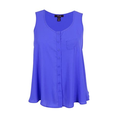 Style& Co. Women's Sleeveless Button Down Blouse