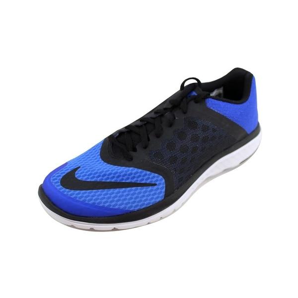 new arrival 7eaf4 0ebb8 Shop Nike Men's FS Lite Run 3 Racer Blue/Black-White nan ...