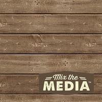 Hampton Art Mix The Media Wooden Plank Plaque, 6 by 6-Inch