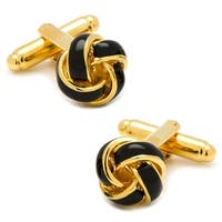 Black and Gold Knot Cufflinks