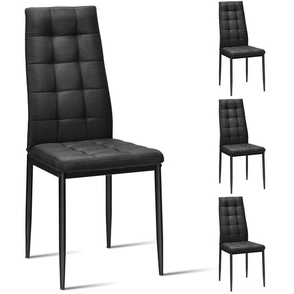 Shop Gymax Set Of 4 Kitchen Dining Side Chairs Fabric