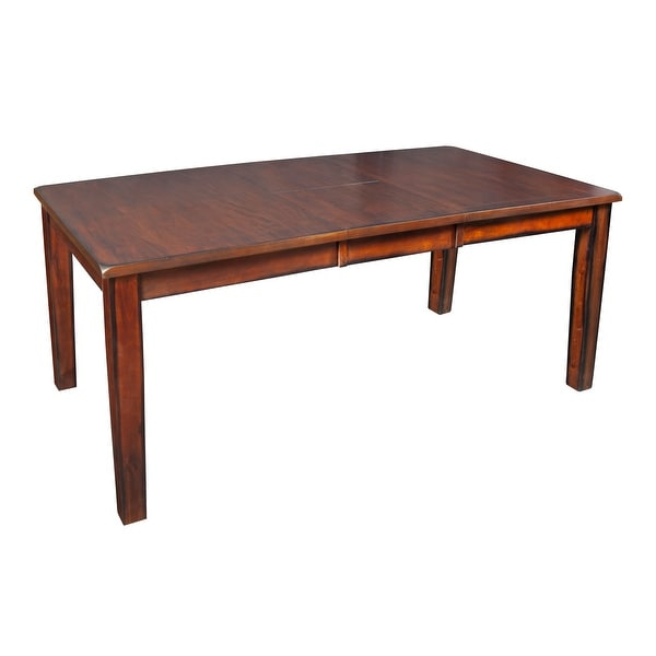 "Tuscan Hills 60-78"" Burnished Butterfly Leaf Dining Table. Opens flyout."