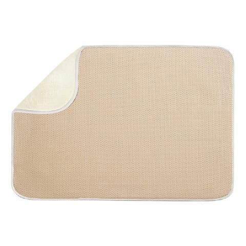 InterDesign 41240 Microfiber Kitchen Drying Mat, Wheat
