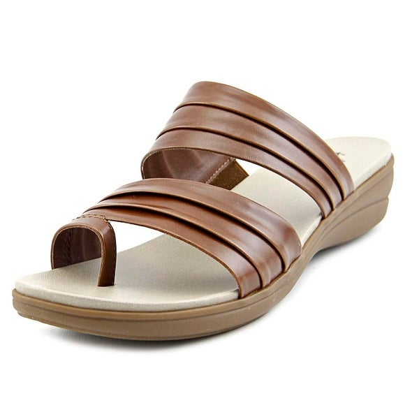 Kim Rogers Cammie Women Open Toe Synthetic Brown Slides Sandal