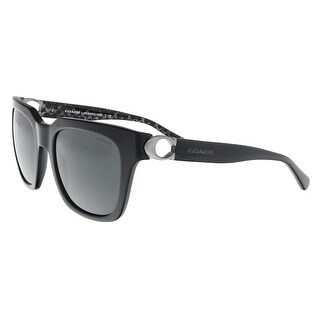 Coach HC8240 551087 Black Square Sunglasses - 52-21-140