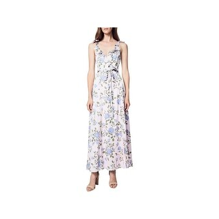 Fame And Partners Womens Party Dress Floral Print Wrap