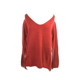 Studio M Red V-Neck Knit Sweater L