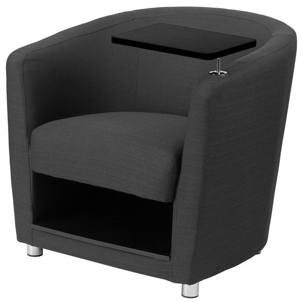 "Delacora FF-BT-8220-FA 30"" Wide Fabric Accent Chair with Under Seat Storage - Charcoal"