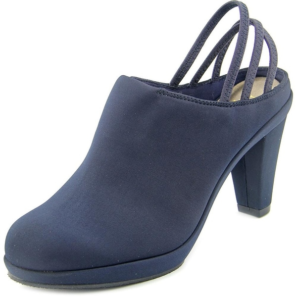 New York Transit Sweet Fit Women Round Toe Synthetic Blue Mules
