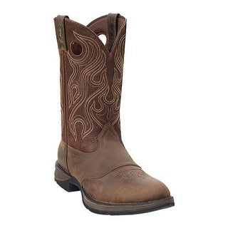 "Durango Boot Men's DB5474 12"" Rebel Dusk Velocity/Bark Brown"