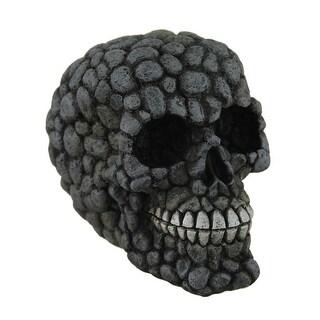 Gray Skull Statue With Rock/Stone Finish