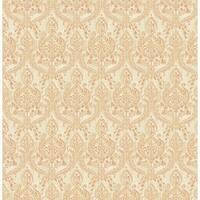 Brewster 1014-001818 Waverly Rust Petite Damask Wallpaper
