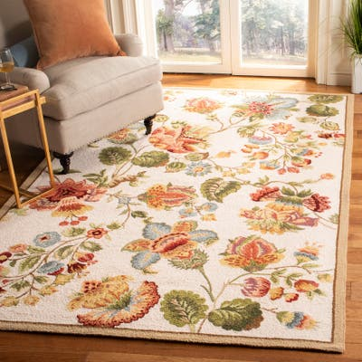 SAFAVIEH Handmade Chelsea Nataly French Country Floral Wool Rug