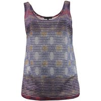 Women - Plus Size Sleeveless Tank Top Spring Summer Fashion Design Purple