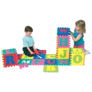 Wonderfoam Alphabet Interlocking Puzzle Mat, Set of 52