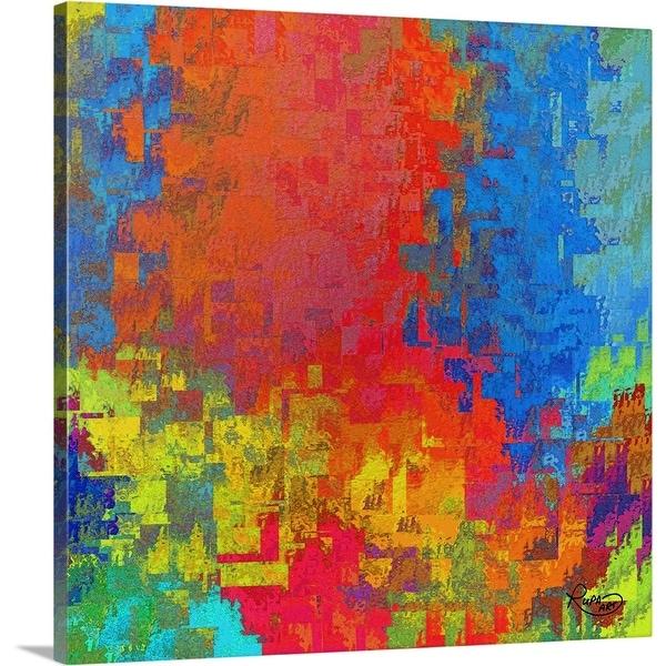 """Feeling Orange"" Canvas Wall Art"
