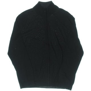 Calvin Klein Mens Extra Fine Merino Wool Full Zip Cardigan Sweater