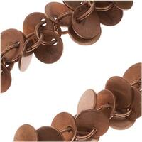 Antiqued Copper Plated 6mm Coin Charm Chain - Bulk By The Inch