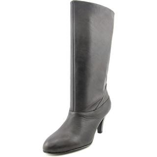 Kelsi Dagger Polianna Women Round Toe Leather Black Mid Calf Boot
