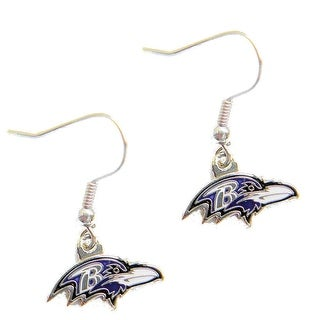 Baltimore Ravens Dangle Logo Earring Set Charm Gift NFL