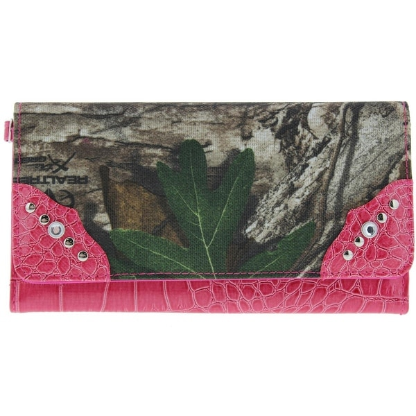 Kenneth Cole Reaction Womens Clutch Wallet Patent Camouflage