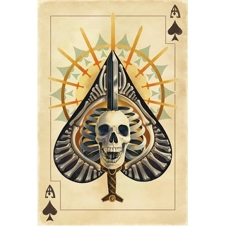 Ace of Spades - Playing Card - LP Artwork (Poker Playing Cards Deck)